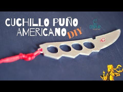 CUCHILLO PUÑO AMERICANO| NARUTO| COSPLAY PROP| DIY