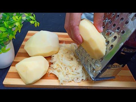 pommes-de-terre-râpés-‼️-j'ai-regretté-de-ne-pas-avoir-essayé-la-recette-auparavant,le-résultat-🔝-😋