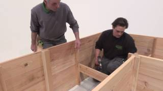 Bauer Holz Winkel Hochbeet 300x100 / 200x100