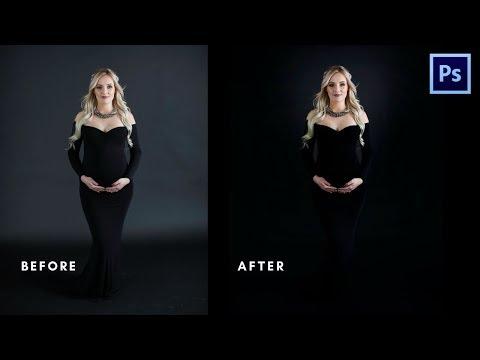 How to make your photos on a dark background LOOK BETTER FAST! Photoshop Tutorial