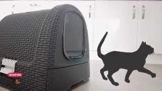 Туалет для кошки с контейнером Curver. Обзор продукта