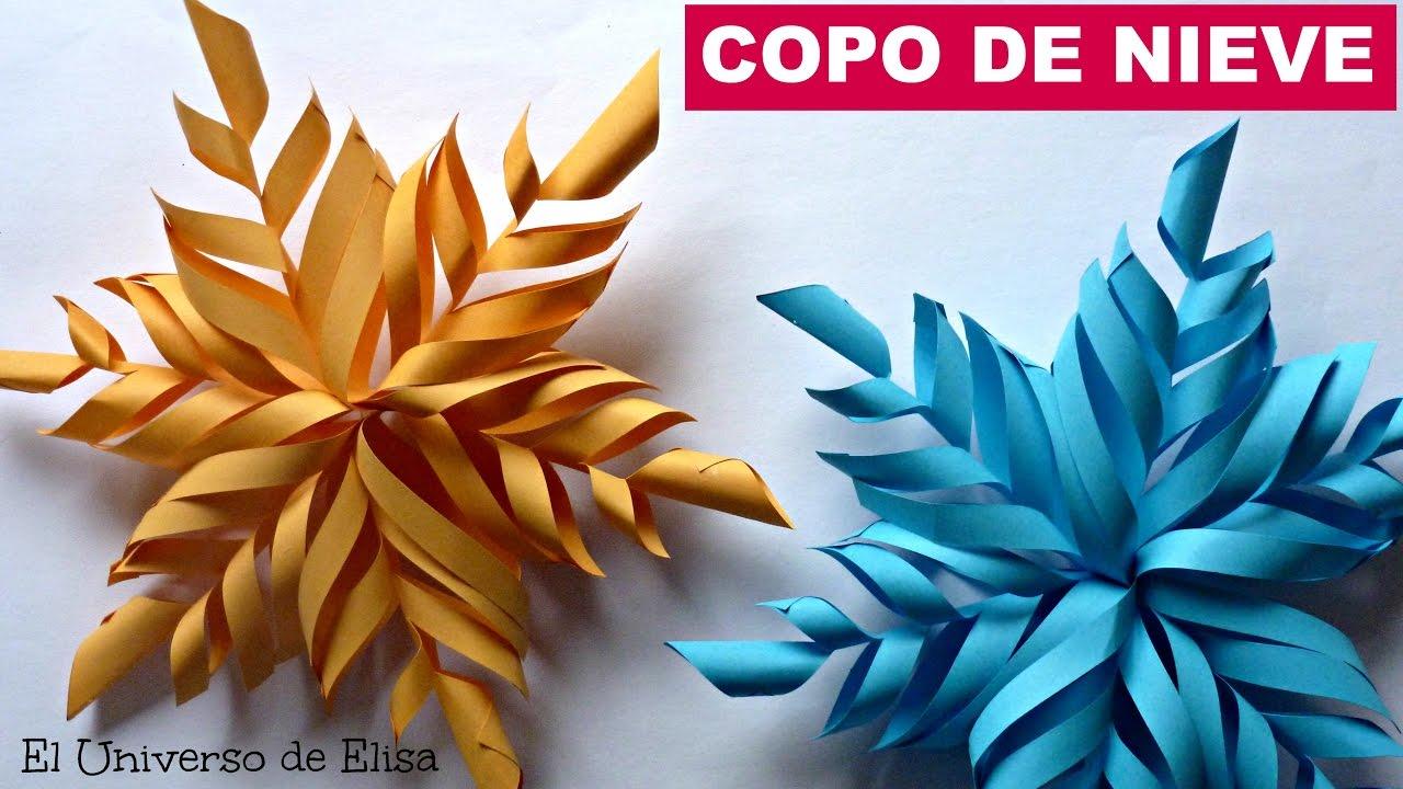 Adorno de Navidad, Copo de Nieve de Papel. How to Make Paper ...