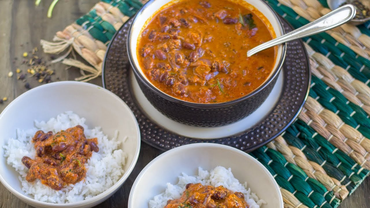 Vegan Red Kidney Beans Curry | Konkani Style Rajma Curry