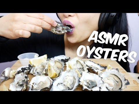 ASMR FRESH Raw Oysters (EATING SOUNDS) No Talking | SAS-ASMR