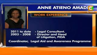 Anne Atieno Amadi, New Judiciary Chief Registrar