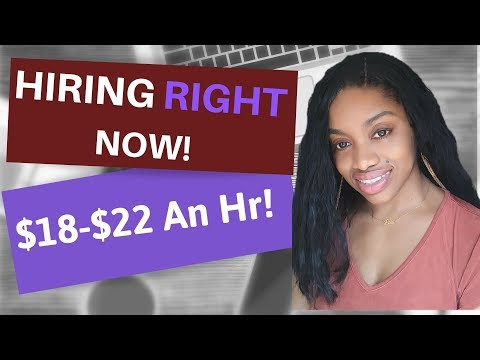 $18-$22 An Hr To Work From Home Now Hiring