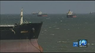 Liz Palka reports on beached cargo ship