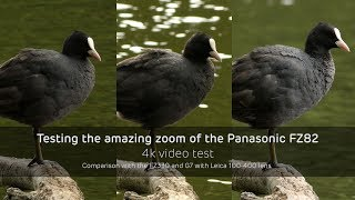 Testing the amazing zoom of the Panasonic FZ82 – 4k video comparison with the FZ330 and G7