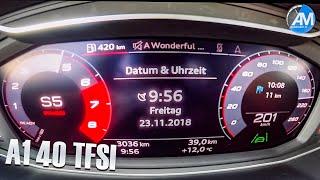 2019 AUDI A1 40 TFSI - 0-200 km/h acceleration!