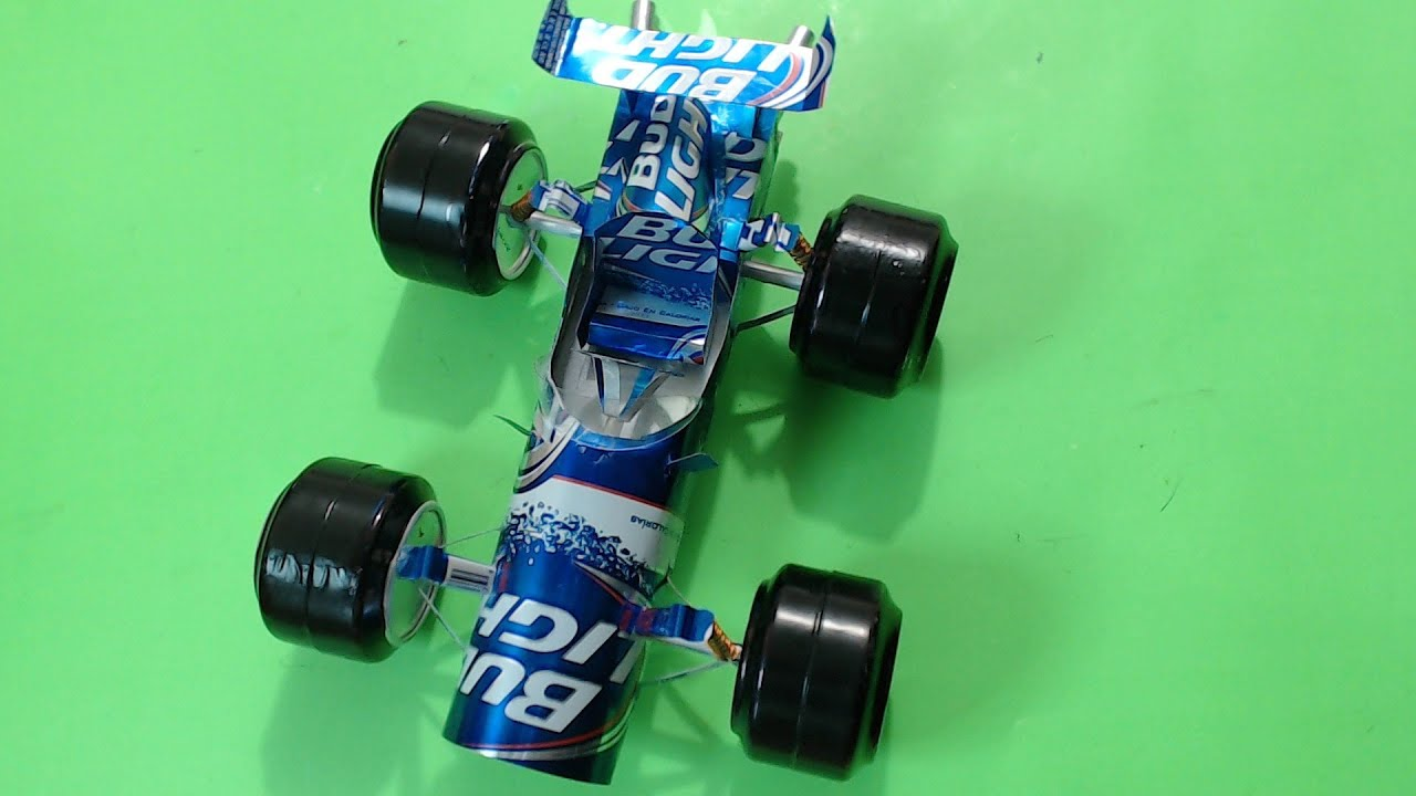 Auto De Carreras Hecho Con Latas De Refresco Tutorial Capitulo 1 Youtube