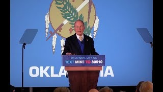 Mike Bloomberg visits Oklahoma City, holds rally