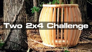 Two 2x4 Challenge: A Mid Mod Stool Made Entirely of 2x4s!