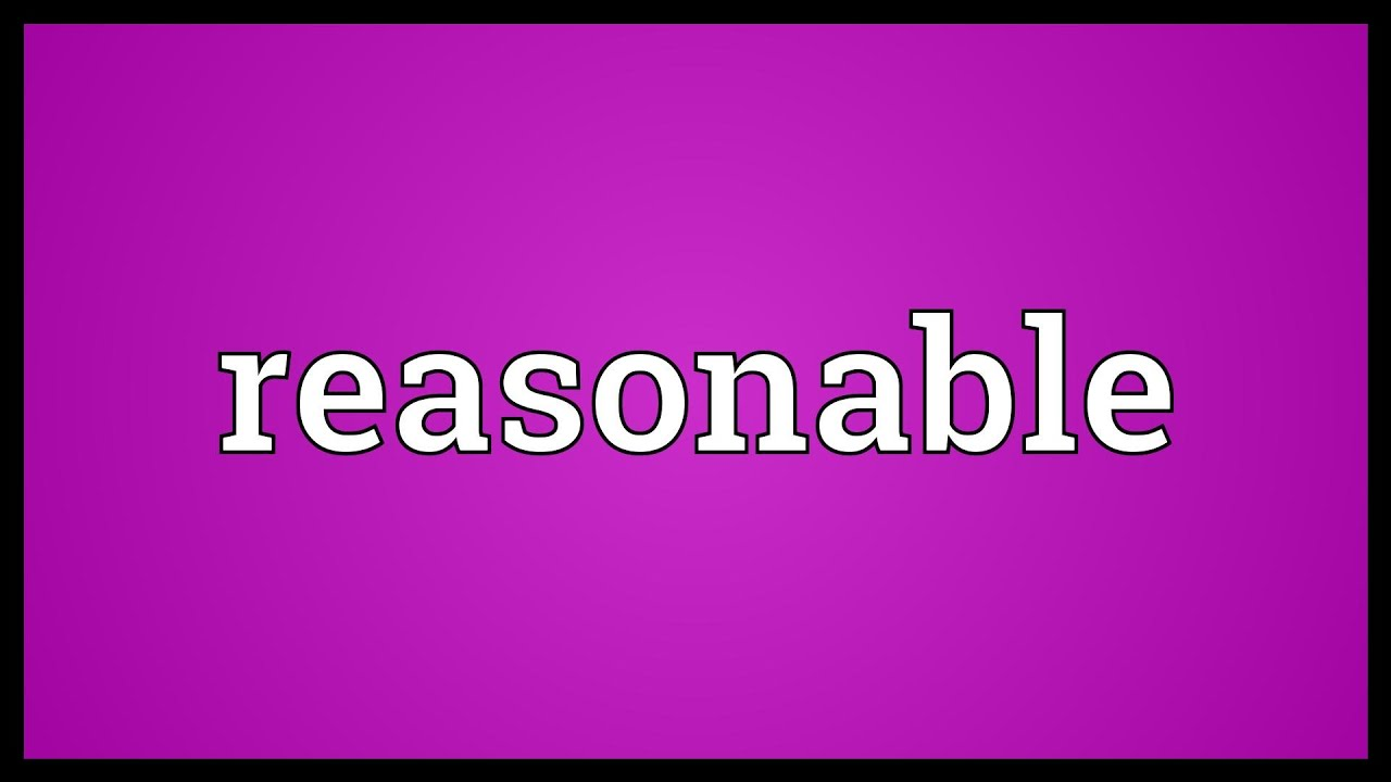 reasonable meaning youtube