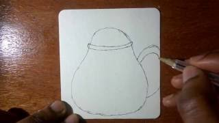 How To Draw a Cartoon Teapot