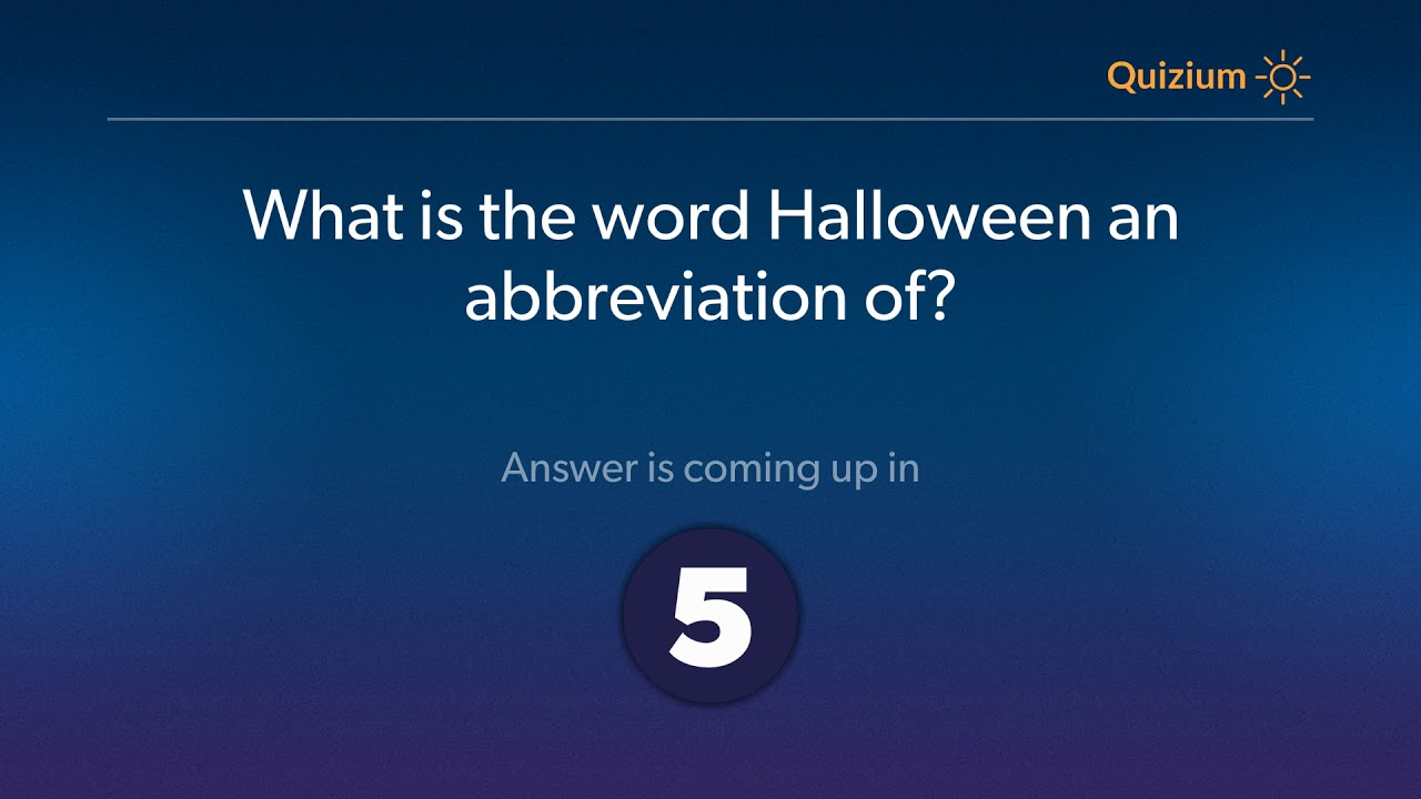 what is the word halloween an abbreviation of halloween quiz youtube