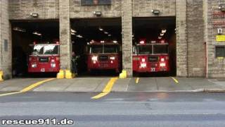 Engine 37 + Tiller ladder 40 + Tower ladder 23 FDNY