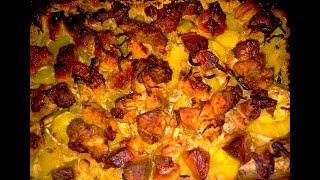 Ребра в духовке с картофелем.Простой рецепт вкусного блюда. Китайская кухня.