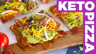 Ultimate KETO Low Carb Pizza! - Eat The Pizza!