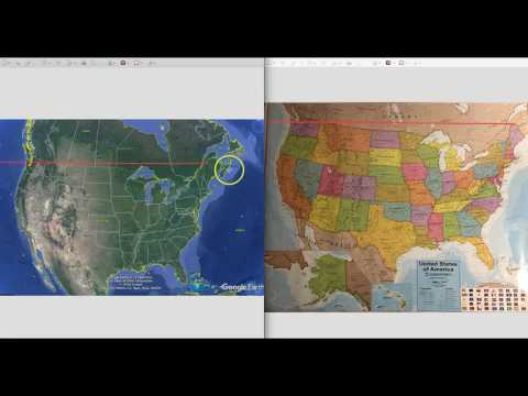 What happened to Maine?   New N. America google map WAY off