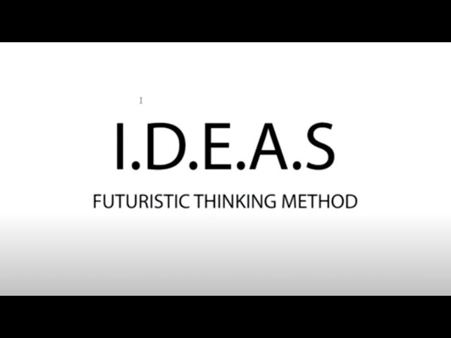 I.D.E.A.S.: Futuristic Thinking, or how to develop new ventures
