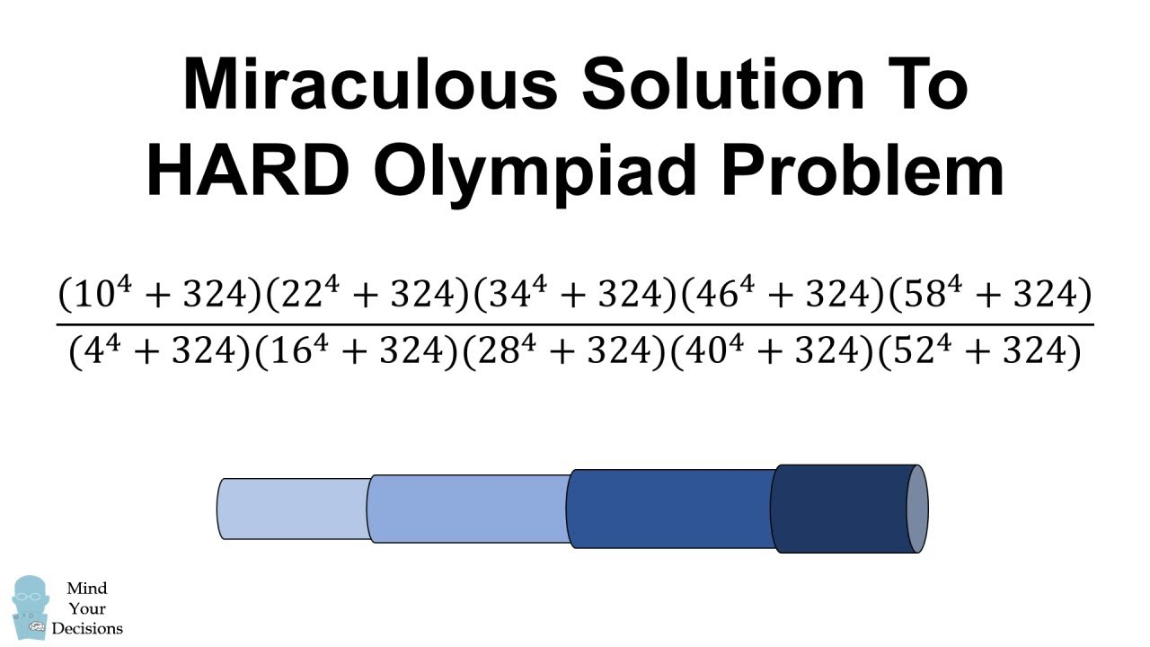 Miraculous Solution To HARD Test Problem