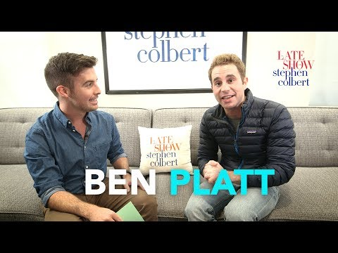Ben Platt's Late  Dressing Room Q&A