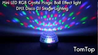 Mini LED Crystal Magic Ball DMX Disco DJ Stage Light