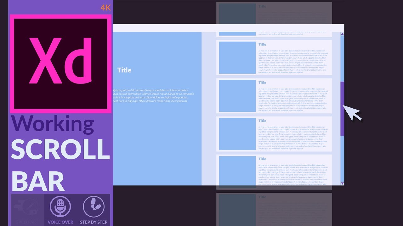 How To Create A Working Scroll Bar In Adobe XD [Tutorial
