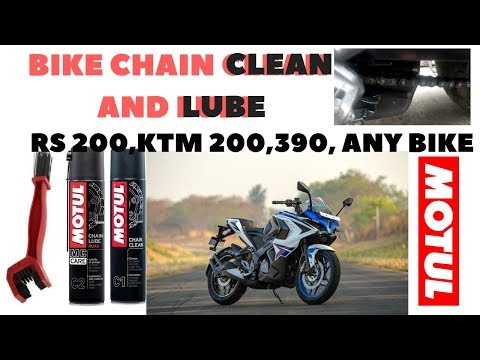 How to Clean Bike Chain like PRO | Rs200 | KTM 200, 390 |
