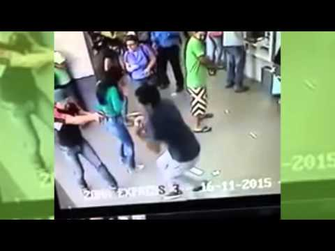 Robo al Banco Provincial | IMPACTANTE VIDEO | 2015
