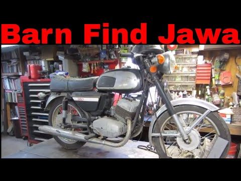 Will it Run ? Jawa 634 barn find motorcycle sitting 12 years.