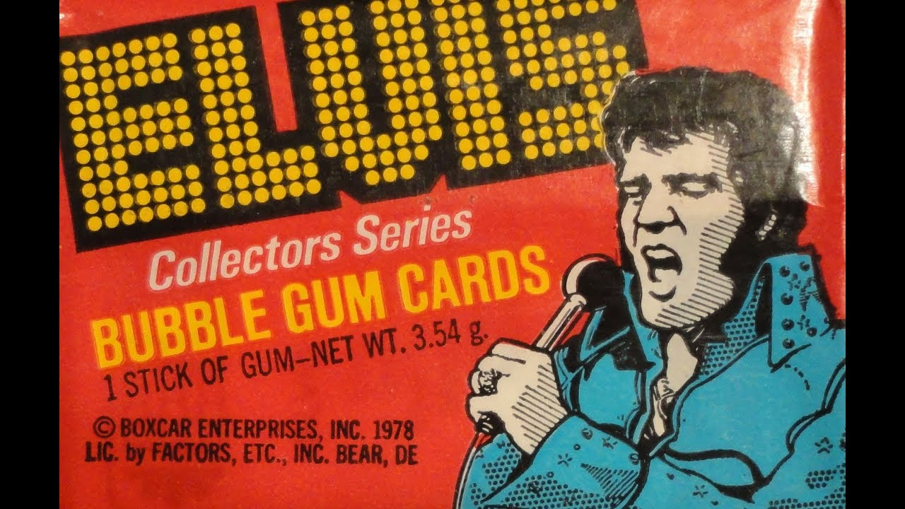 Whats Inside Elvis Collector Series Bubble Gum Cards 1978