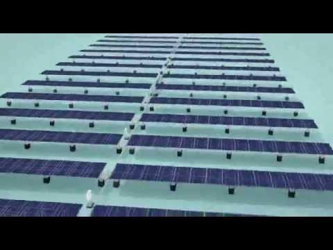 SunSurfs Solar Farm With Sun Tracker 3D Video