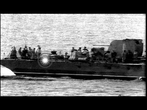 Russian RIGA class underway off the cost of Gibraltar in Mediterranean Sea. HD Stock Footage