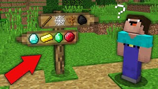 Minecraft NOOB vs PRO : WHICH SIGNPOST WILL CHOOSE NOOB TREASURE VS POVERTY? Challenge 100% trolling