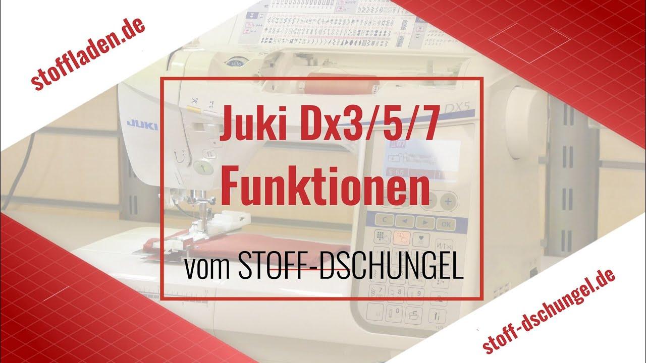Download Das ist die Juki DX3, DX5, DX7 mit allen Funktionen!