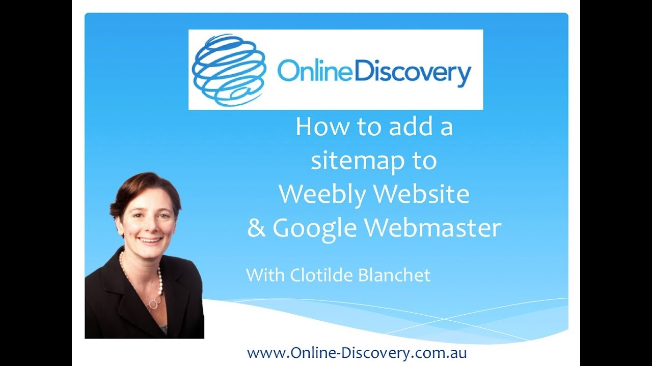 how to submit a weebly website sitemap to google webmaster youtube