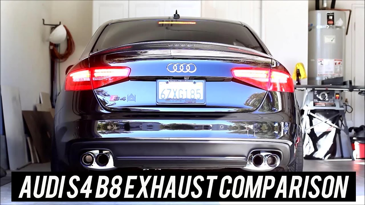 Audi S4 B8 Exhaust Comparison Miltekcapristo Armytrix Etc Youtube
