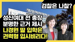 검찰은 나경원 딸의 권력형 입시비리 의혹을 철저히 수사하라!