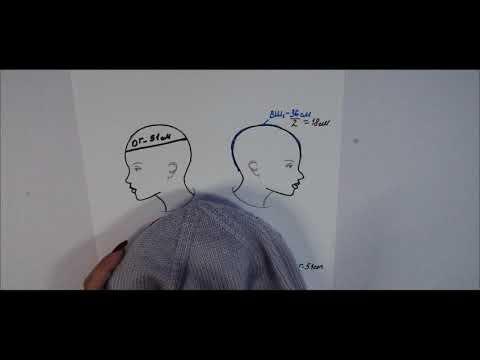 Как рассчитать глубину шапки спицами