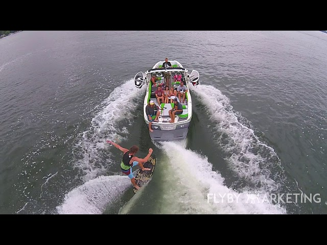 Michigan Drone Marketing | Fly By Marketing | Wakeboarding