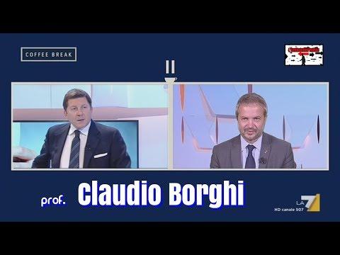 """Claudio Borghi a """"Coffee Break"""" su La7  - 21/09/2017"""