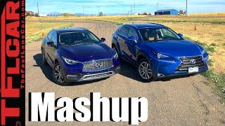 2017 Infiniti QX30 vs Lexus NX 300h Mashup Review & Drag Race: Style vs Utility