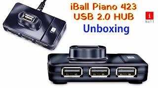 iball Piano 423 USB Hub Unboxing Best 4 Port USB Hub