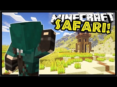 Minecraft SAFARI! | HEART OF AFRICA! | Custom Map Adventure Part 1