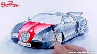 How to paint a Bugatti Veyron - spoken tutorial