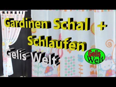 diy einfachen schlaufen schal gardine selber n hen youtube. Black Bedroom Furniture Sets. Home Design Ideas