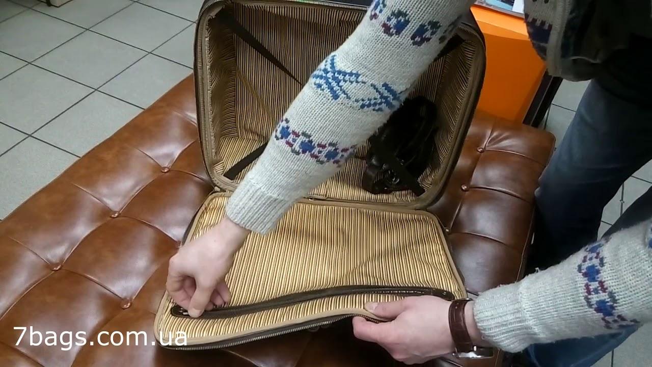 24ad3e87833f TL141454 сумка кожаная дорожная на колесах VARSAVIA, Tuscany - YouTube