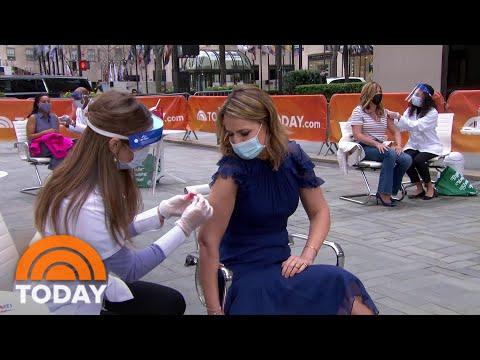 TODAY Anchors Get Their COVID-19 Vaccinations Live On The Plaza | TODAY