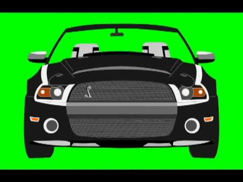 car accelerates driving royalty free green screen animation youtube. Black Bedroom Furniture Sets. Home Design Ideas